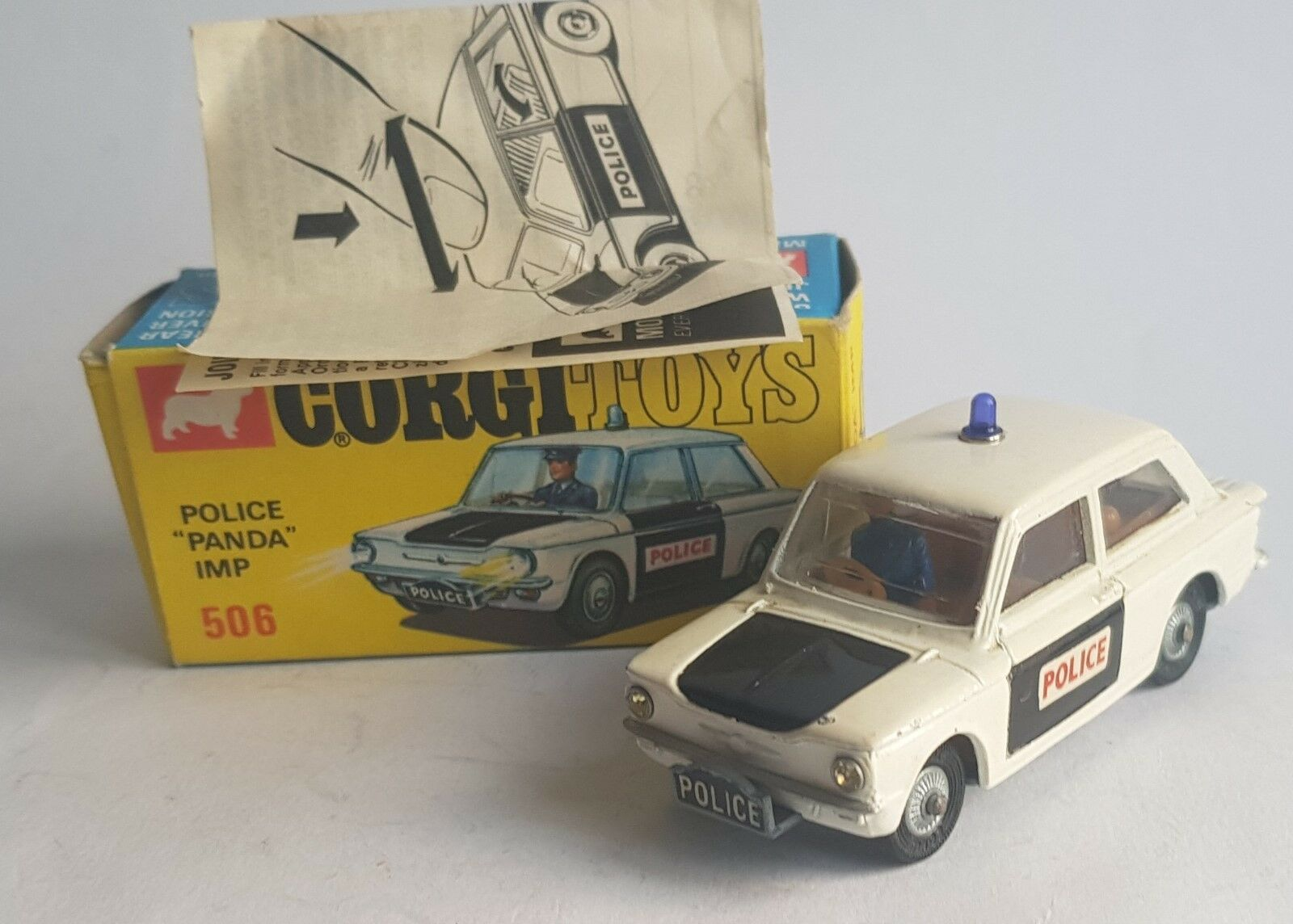Corgi Toys No. 506, Police 'Panda' Imp, - Superb Superb Superb Near Mint 0f6