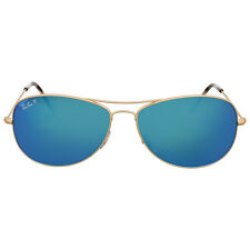 Ray Ban Polarized Blue Mirror Chromance Aviator Sunglasses