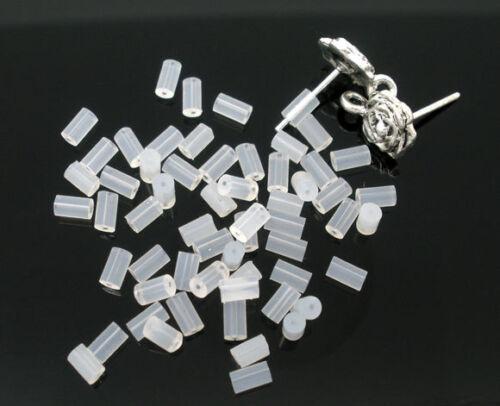 5000 Rubber Back Earring Stoppers Findings 4x2mm HX