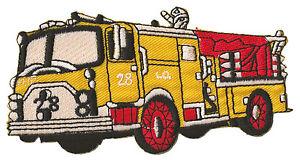 Patch écusson patche camion pompier thermocollant embellissement Fire