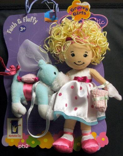 "groovy girls FAITH /& FLUFFY flower-girl wedding little sister puppy 8/"" 2006  NEW"