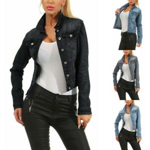 Women-Casual-Cowboy-Jacket-Ladies-Jean-Jackets-Ripped-Distressed-UK-STOCK