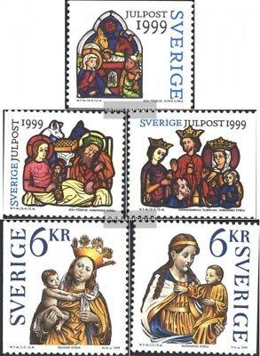 Postfrisch 1999 Weihnachten Schweden 2147-2151 kompl.ausg.