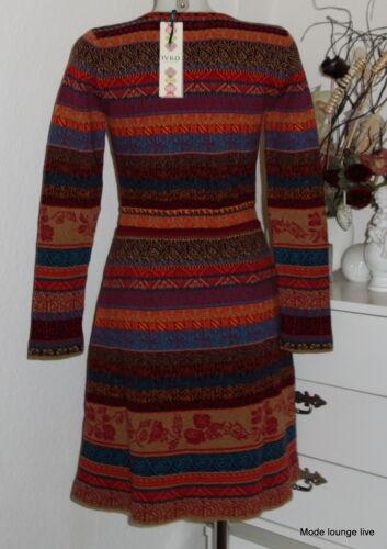 IVKO Merino-Wolle Kleid Balkan Fusion Dress Pleats blau stone rot cherry 62521
