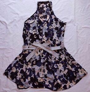 AS-NEW-Life-with-Bird-Size-2-10-Dress-Print-Belt-Blouson-Floral-Mini-Sleeveless