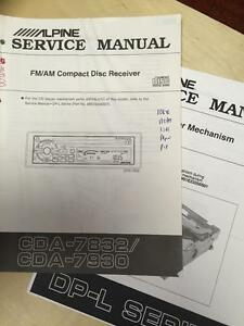 Alpine Service Manual For The Cda 7832 7930 Cd Player Car Stereo