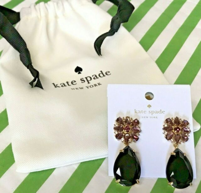 Orchid Trellis New Diamontrigue Jewelry: New Kate Spade Trellis Blooms Purple Chandelier Statement