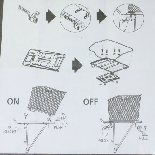 XLC Switch Button Verriegelung NUR XLC Carry More Systemgepäckträger