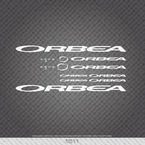 01511 Orbea Aqua Bicycle Stickers White Decals Transfers