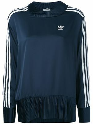 Adidas Originals - Adidas Trefoil Womens Stripe Blue Track Top Sizes Uk 8/16