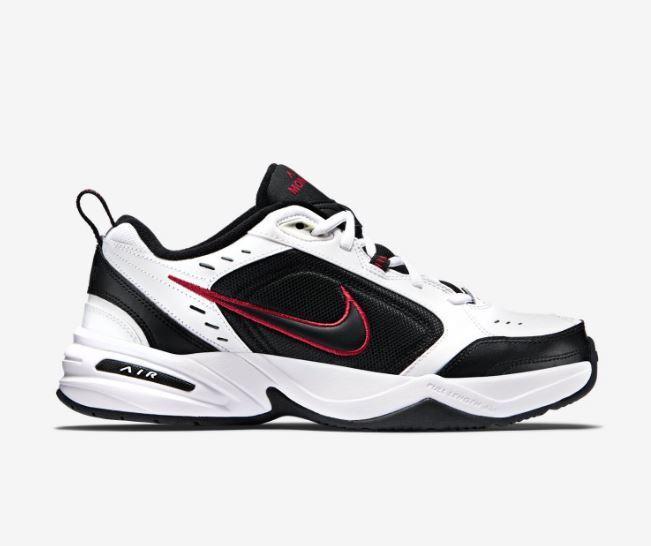 Uomo Nike Monarch IV Training Shoe  White/Nero-Varsity Red 415445 101