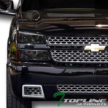 SMOKE HEAD LIGHTS+SIGNAL AM DY+ALTEZZA TAIL LAMPS JY 2003-2007 CHEVY SILVERADO