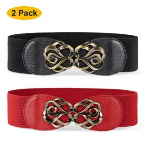 women fashion elastic belt wide stretch corset waist band