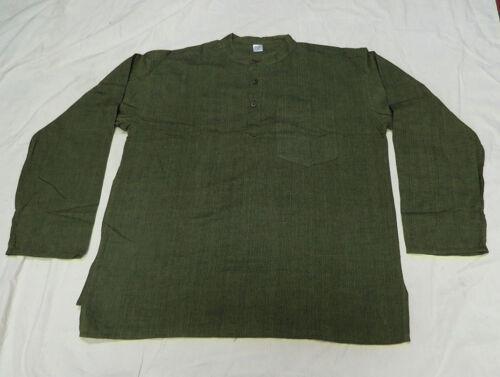 K118 M Cotton grandad long sleeve Green Plain Summer fashion men shirt Nepal