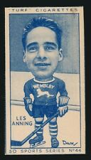 1940's Turf Cigarettes Hockey#44 LES ANNING (Canadian Player)*Tough Type*