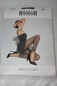 Wolford-PEACOCK-LACE-footless-tights-BNWT-XSmall-UK-6-8-black