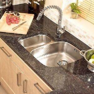 Opal 1.5 Bowl Undermount kitchen Sink Stainless Steel Right Hand +Waste & Overfl