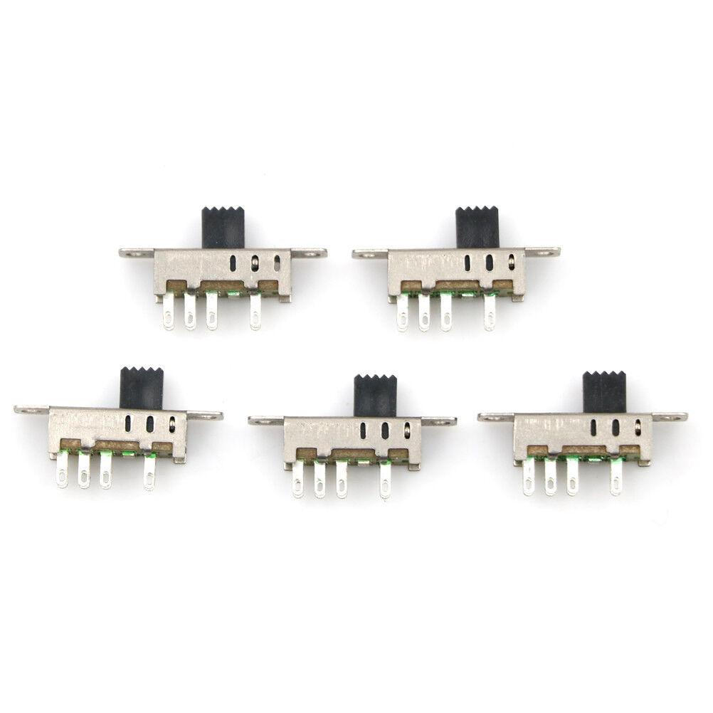 5 Pcs  Miniature 3 position Slide Switch 3PDT Model Railway Hobby SSW23PC CM04