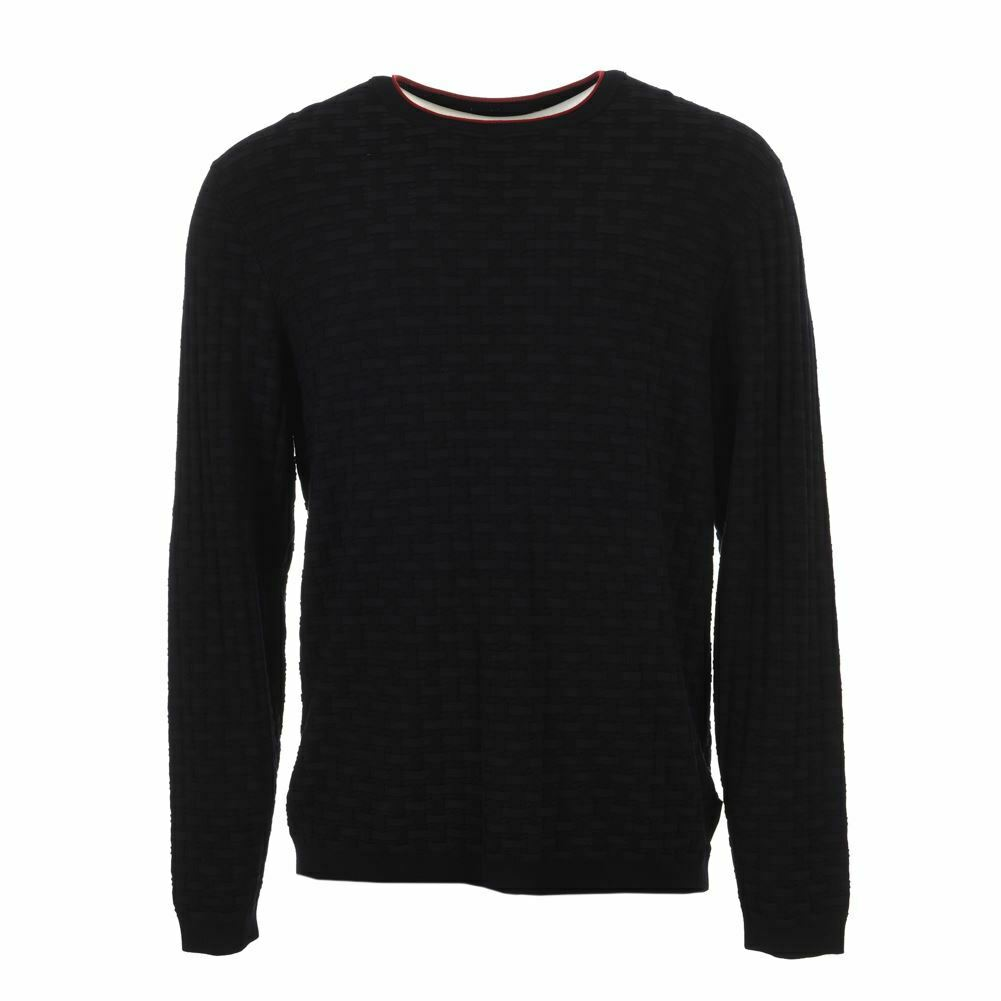 EMPORIO ARMANI Sweater Navy With Red Trim Size Large HC 168