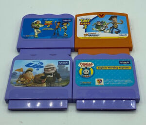 Vtech-VSmile-Game-Cartridges-Lot-of-4-Up-Thomas-amp-Friends-Toy-Story-2-Motion