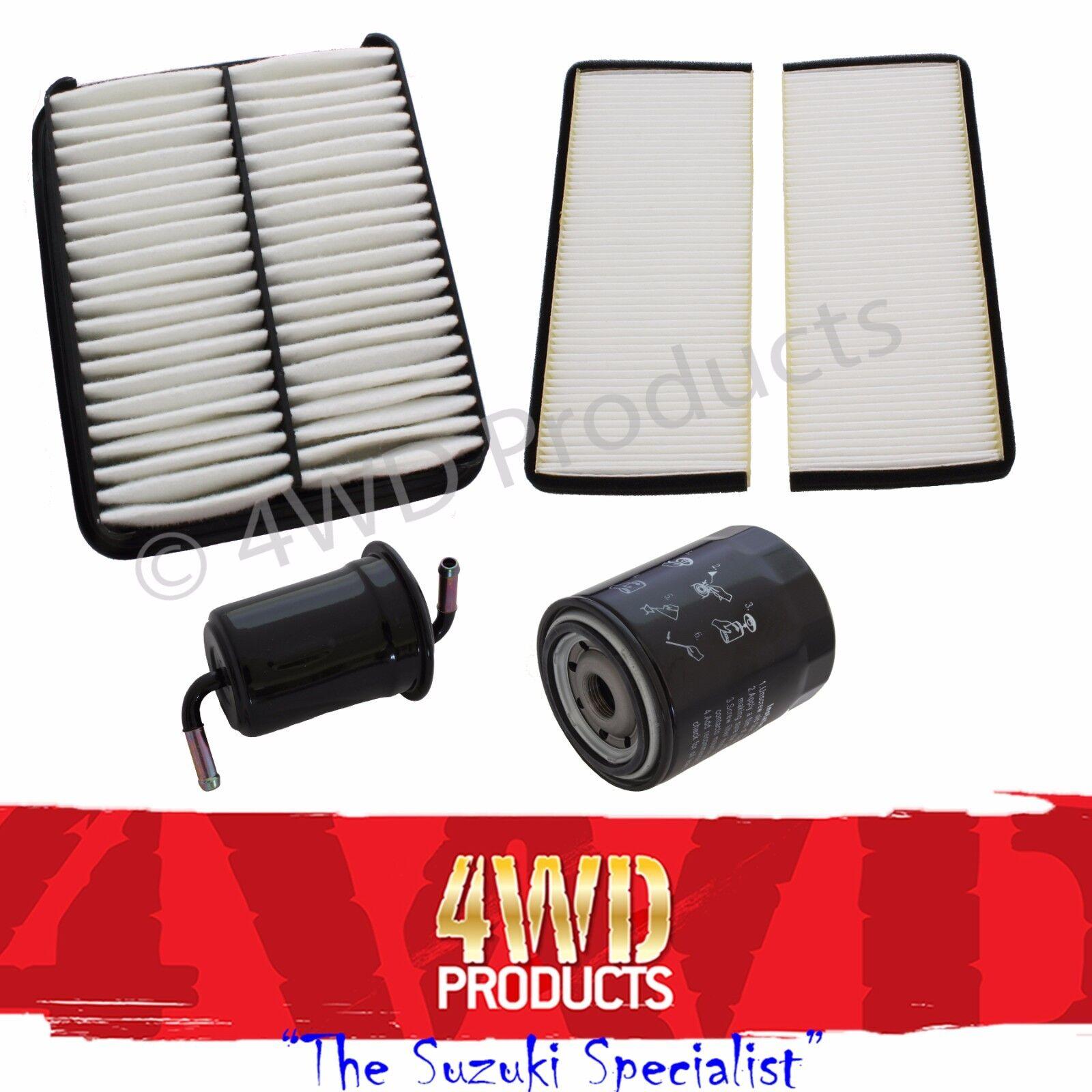 Oil-Air-Fuel-Cabin Filter + Spark Plug kit - Suzuki XL7 2.7-V6 H27A  (01-8/03)