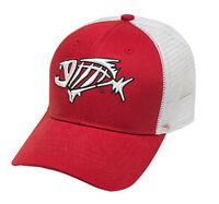 Loomis Logo Bandit Tucker Hat Red / White Mesh Fishing Cap Adjustable