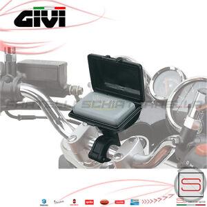 Custodia-Porta-Telepass-Universale-Moto-Supporto-Attacco-Al-Manubrio-Givi-S601