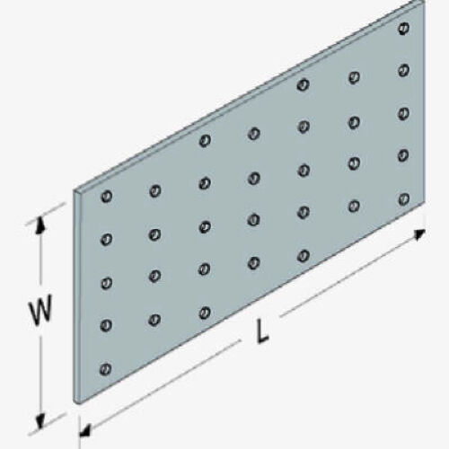 """Pack of 100 Simpson Strong-Tie NS1 1-1//2/"""" x 3/"""" Nail Stop Plate"""