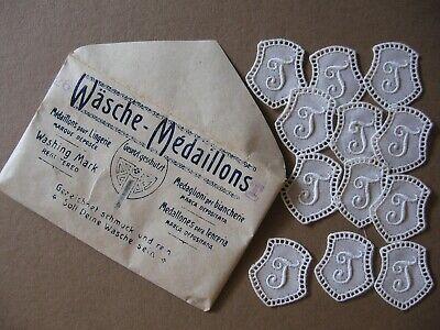 Beliebte Marke 12 Monogramme T Ovp Jugendstil-kuvert Wäsche-medaillons Ca 90 Jahre Alt Schweiz Supplement Die Vitalenergie Und NäHren Yin