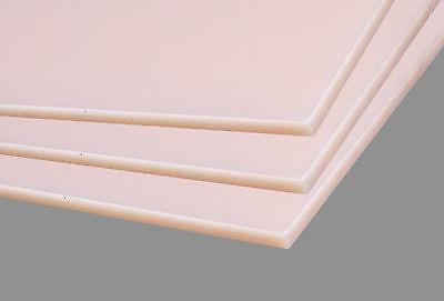 4x Kunststoffplatte HDPE Polyethylen 1000 x 495 x 6 mm fleischfarben