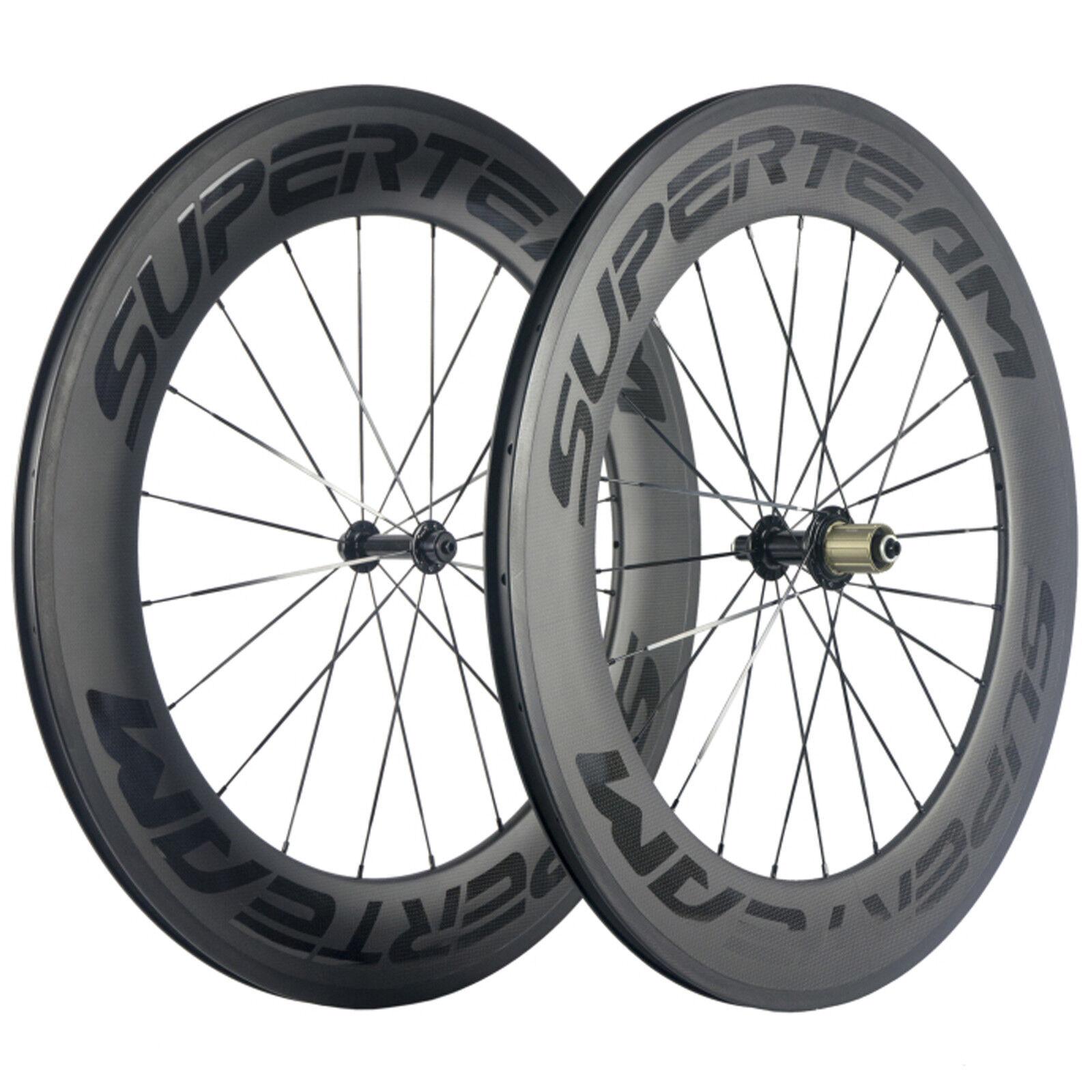 Superteam 88mm Carbon Wheelset Transparent Logo Road Bike R13 Hub Carbon Wheels