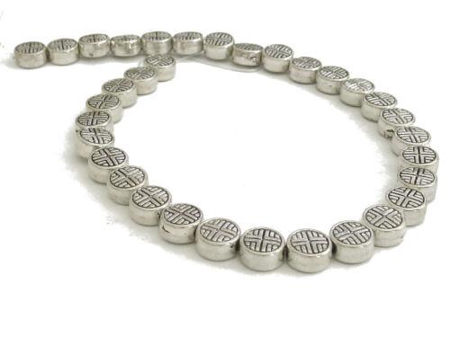 Environ 33 métal perles Disc 6mm Antique Argent en couleur perles spacer Nenad-Design an216