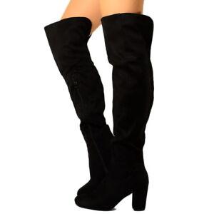 Stivali con tacco alti fino al ginocchio | eBay