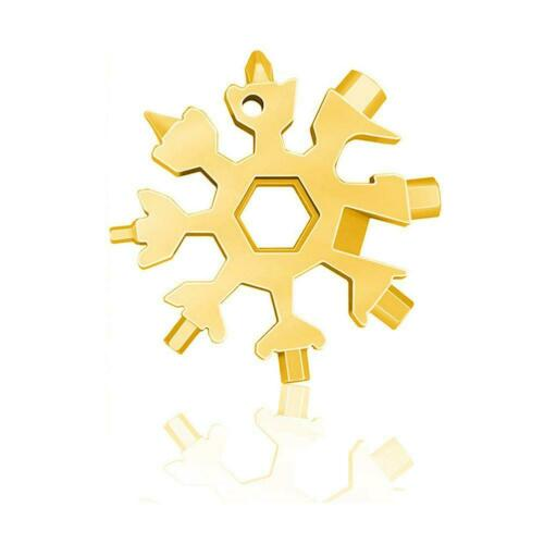 18 In 1 Stainless Tool gold Portable Snowflake Shape Key-Chain Screwdriver b b