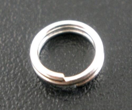 100 Pièces Spiralringe Conjonctif Anneaux 10 mm brèche Bagues anneaux clé hellsilbern