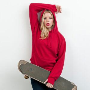 AWDis Unisex Heavyweight Hoodie Warm Winter Hooded Boys Girls Sweatshirt New