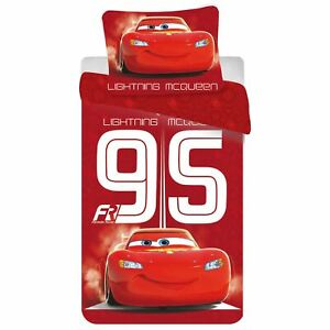 Officiel-Disney-Cars-Lightning-Mcqueen-95-Set-Housse-de-Couette-Simple-Garcons