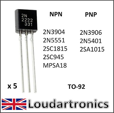 2N5551 Transistors NPN TO-92 Lot de  5 ou 10 # TR014