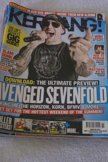 KERRANG No 1367. June 11 2011. Avenged Sevenfold/All Time Low