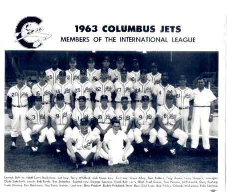 1963 COLUMBUS JETS 8X10 TEAM PHOTO BASEBALL PITTSBURGH PIRATES  AFFILIATE