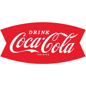 Image Is Loading Drink Coca Cola Fishtail Logo 1960s Wall Decal