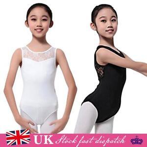 44429ddfe24f 4-15 Aged Kid Girls Gymnastics Stretch Slim Bodysuit Ballet Dance ...