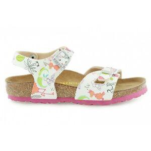 a49b8fec7f04 Image is loading Birkenstock-Rio-Kinder-Kids-Sandals-Funny-Birds-White