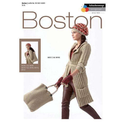SCHACHENMAYR Boston tricot motif s8537 brioche belted coat notice # 14d162