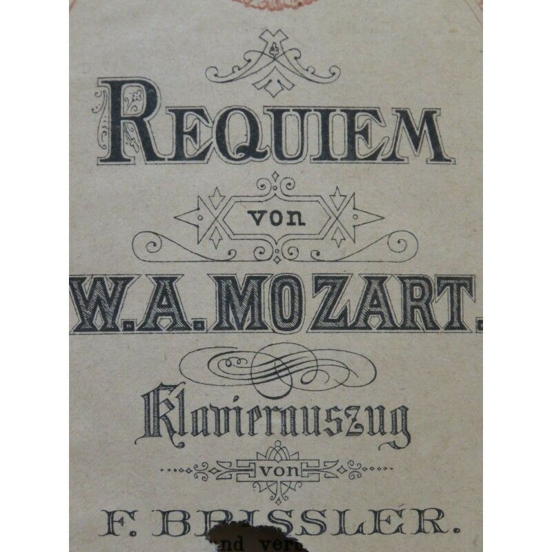 MOZART W. A. Requiem Chant Piano partition sheet music score