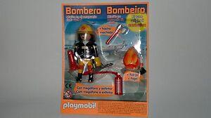 Playmobil-Coleccion-Figura-Bombero-con-Accesorios-y-Fuego-Especial-NUEVO