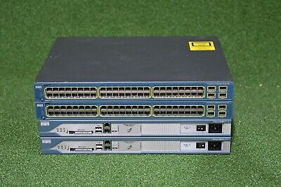 CISCO CCNA CCNP CCIE Lab CISCO1841 WS-C3560-48PS-S W// USB Guiding