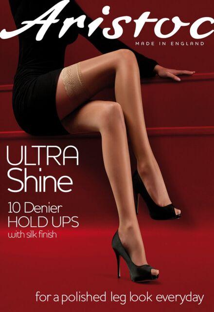 023589dd653 Aristoc Ultra Shine Hold Ups 10 Denier Polished Leg Look Hold Up Stockings  BNIB