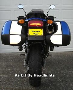 Triumph Trophy SE hardbag pannier reflective decals
