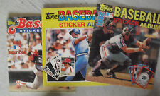 Lot of 3 Topps Baseball Sticker Albums  with Some Stickers 1981 82 83